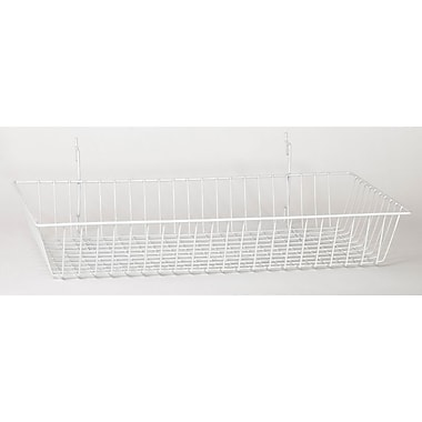 Wire Basket, White, 24in. X 12in. X 4in.
