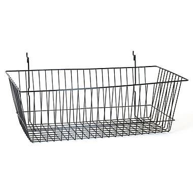 Wire Basket, Black, 24in. X 12in. X 8in.
