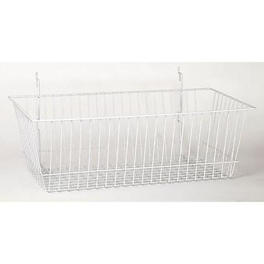 Wire Basket, White, 24in. X 12in. X 8in.