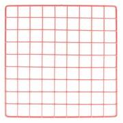 """Mini Grid, Red, 14"""" X 14"""""""
