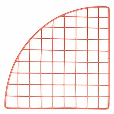 Mini Grid Corner, Red, 14in.