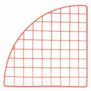 "Mini Grid Corner, Red, 14"""