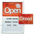 Open/Closed Sign W/ Message Board, Vertical, White