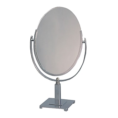 Counter Top Mirror, Double-Sided Oval Shape - 10