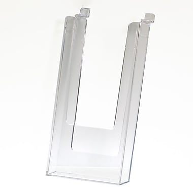 Slatwall Literature Holder, Clear, 4