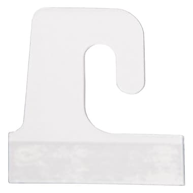 J-Hook Hang Tab, Clear, 1-1/2in. X 1-1/2in., 100/Pack