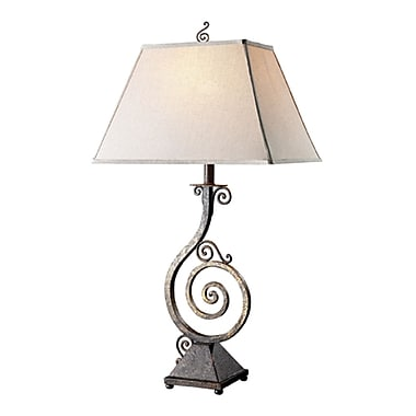 Elegant Designs Pinwheel Scroll Table Lamp, Burnt Copper Finish