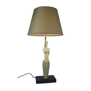 Simple Designs Pretty Woman Lamp, Green Finish