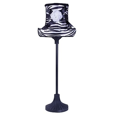 LimeLights™ Boutique Style Hat Lamp With Zebra Printed Shade and Adorning Bow/Flower