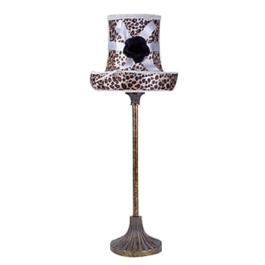 LimeLights™ Boutique Style Hat Lamp With Leopard Printed Shade and Adorning Bow/Flower