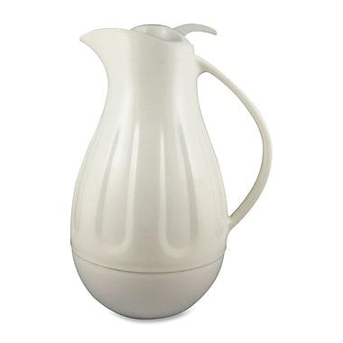 Genuine Joe® 1.37 qt. 5 Cup Double Wall Swirl Carafe, White