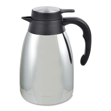 Genuine Joe® 1.59 qt. Mirror Finish Classic Vacuum Carafe, Steel Gray