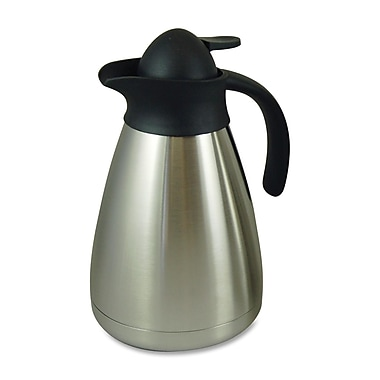 Genuine Joe® 1.06 qt. Contemporary Vacuum Carafe, Stainless Steel