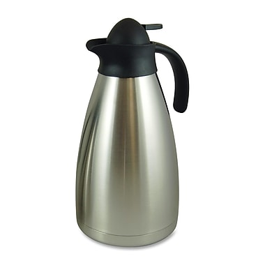 Genuine Joe® 2.11 qt. Contemporary Vacuum Carafe, Stainless Steel