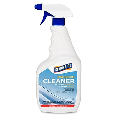 Genuine Joe® Ready To Use Bathroom Cleaner, 32 oz. Trigger Spray Bottle, White