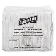 "Genuine Joe® Quad Fold 2-Ply 13"" X 11 1/4"" Lunch Napkins, White"