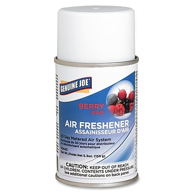 Genuine Joe® Metered Aerosol Air Freshener Refill, 30 Day, Berry