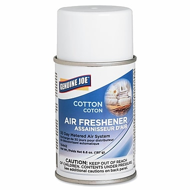 Genuine Joe® Metered Aerosol Air Freshener Refill, 30 Day, Cotton