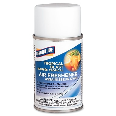 Genuine Joe® Metered Aerosol Air Freshener Refill, 30 Day, Tropical Blast