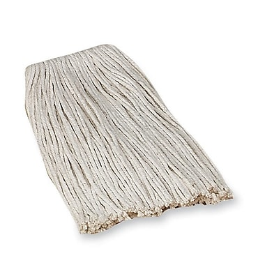 Genuine Joe GJO 48254 4-Ply Cotton Open End Mop Head Refill, #24