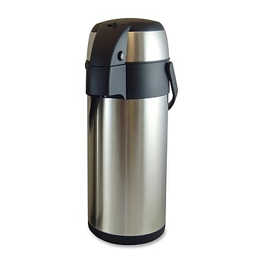 Genuine Joe® 3.70 qt. High Capacity Vacuum Airpot, Stainless Steel