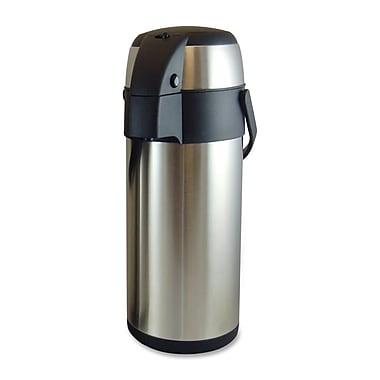 Genuine Joe® 3.70 qt. High Capacity Vacuum Airpot, Stainless Steel