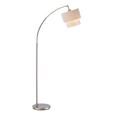 Adesso® Gala Arc Floor Lamp, Satin Steel