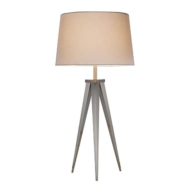 Adesso® Producer Table Lamp, Silver/Pewter Finish