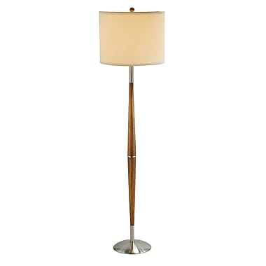 Adesso® Hudson Floor Lamp, Dark Maple