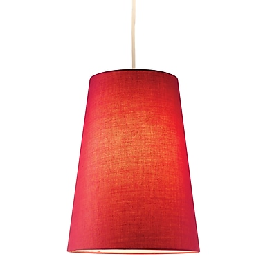 Adesso® Harvest 4000-08 Incandescent 100 W or 26 W CFL Cone Pendant, Red