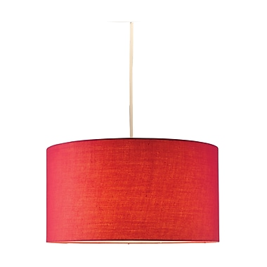 Adesso® Harvest 4001-08 150 W Incandescent or CFL Drum Pendant, Red