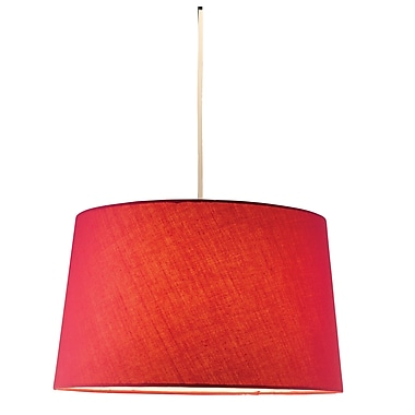 Adesso® Harvest 4002-08 150 W Incandescent or CFL Tapered Drum Pendant, Red