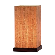 Adesso® Sedona Table Lantern, Walnut Finish