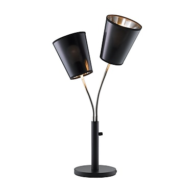 Adesso® Athena Table Lamp, Black Finish
