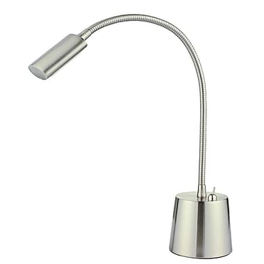 Adesso® Eternity Gooseneck Desk Lamp, Satin Steel