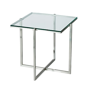 Adesso® Glacier 19 1/4in. x 20 1/4in. x 20 1/4in. Glass End Table