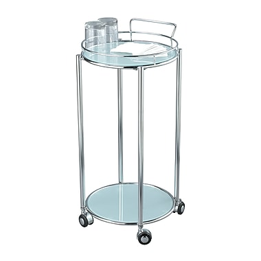 Adesso® Cosmopolitan Metal/Frosted Glass Bar Cart