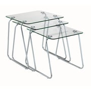 Adesso® Slice Glass Nesting Tables, Set of 3, Clear