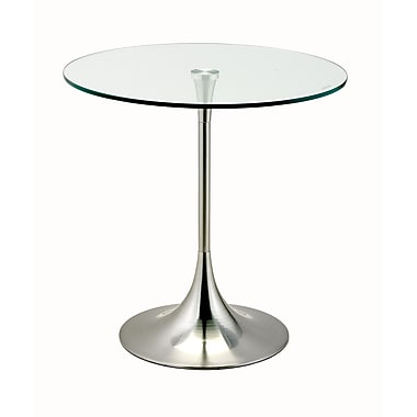 Adesso® Coronet 20in. Accent Table, Satin Steel
