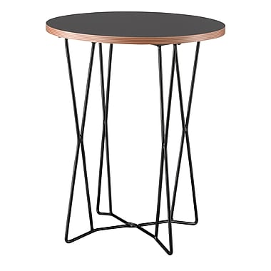 Adesso® Network 21 3/4in. x 17 3/4in. Melamine Veneer End Table, Black