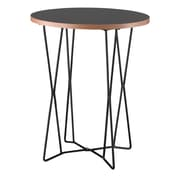 Adesso® Network 21 3/4 x 17 3/4 Melamine Veneer End Table, Black