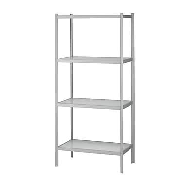 Adesso® Aspen Glass Four Shelf Unit, White/Light Grey
