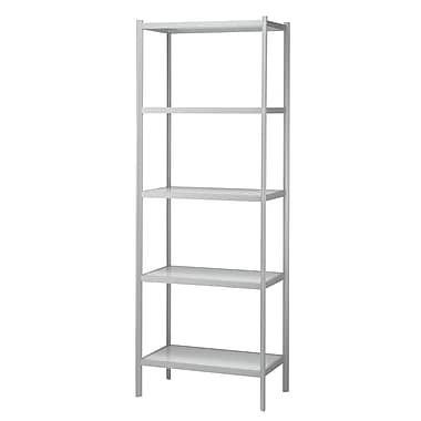 Adesso® Aspen Glass Five Shelf Unit, White/Light Grey