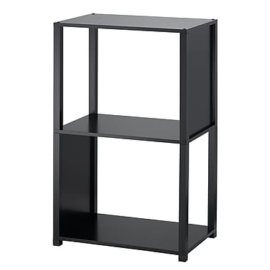 Adesso® Hyde MDF Three Shelf Unit, Black
