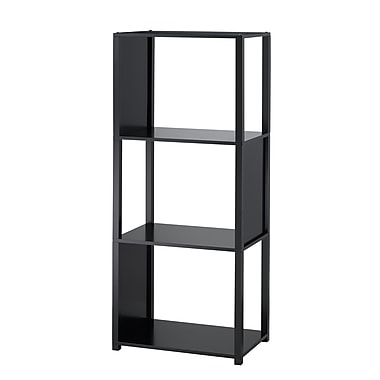 Adesso® Hyde MDF Four Shelf Unit, Black