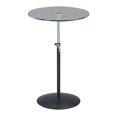Adesso® Soho 20in. - 31in. Adjustable Table, Black
