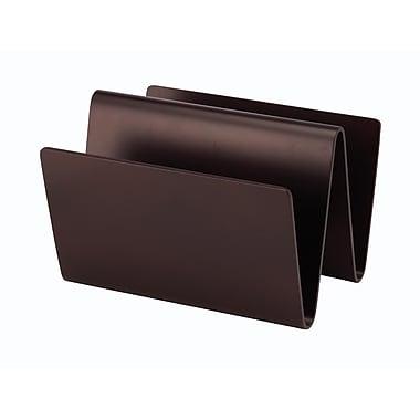 Adesso W-Shape Wood Magazine Rack, 2-Pocket