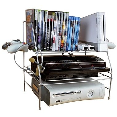Atlantic® 45506114 Titanium Video Game Rack, 24 x Disc, 2 x Controller Capacity