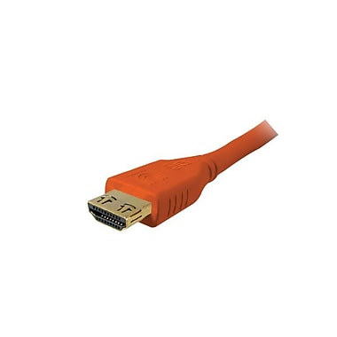 Comprehensive® Pro AV/IT 6' High Speed HDMI Cable With ProGrip, Deep Orange