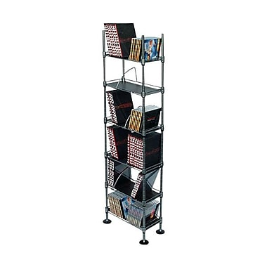 Atlantic® 48.8in.(H) Polypropylene 6 Tier Multi-Media CD Shelving, Black